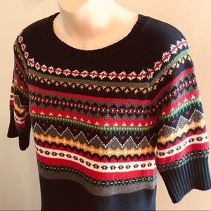 Tommy Hilfiger Navy Nordic Fair Isle Sweater Dress